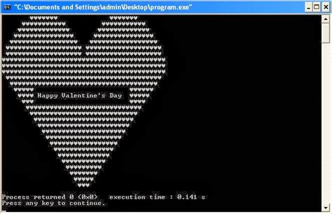 c program to print shape with happy s day message inside it the programmer