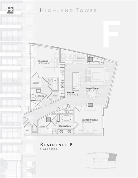 floor plans highland tower condominiums