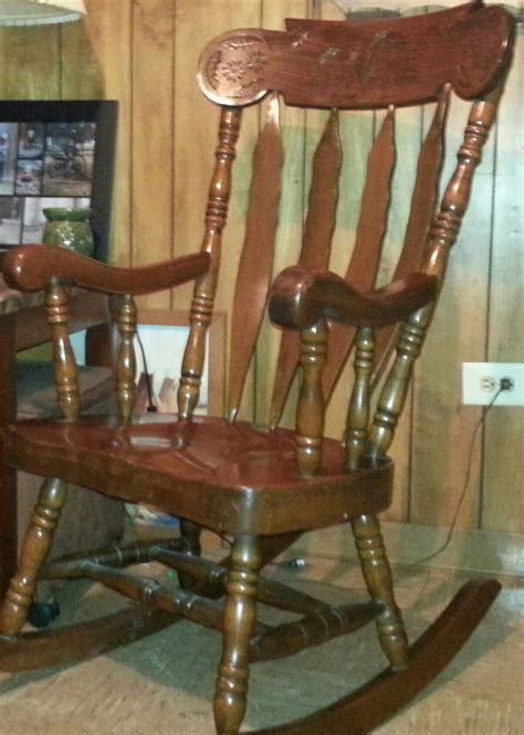 large solid wood carved rocking chair collectors weekly