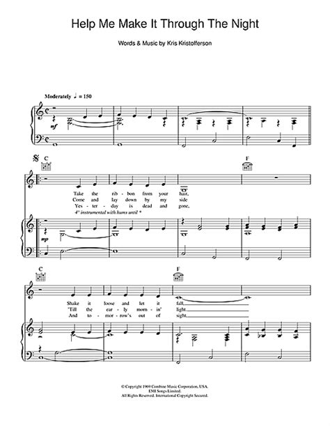 Help Me Make It Through The Night Sheet Music By Kris. Lawyer Resume Template. Sample Resume Of A Civil Engineer. Resume Format For Makeup Artist. Special Skills Acting Resume. Resume Format Mechanical Engineer Fresher. Resume Bilingual. Resume Format For Company Secretary Internship. Resume Template Microsoft Word 2010