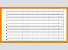 Free Blank Spreadsheet Template download