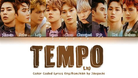 Tempo (템포) Lyrics (color Coded Eng/rom/han/가사