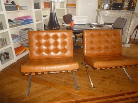 fauteuils barcelona mies der rohe l atelier 50 boutique vintage achat et vente