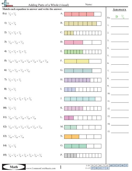 """Search Results For """"decomposing Fractions Worksheets 4th Grade""""  Calendar 2015"""