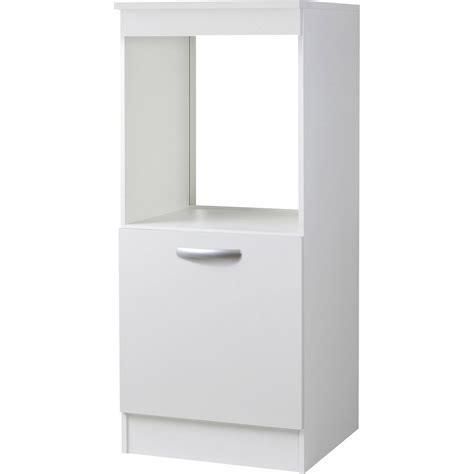 meuble de cuisine 1 2 colonne 1 porte blanc h140 4x l60x p60cm leroy merlin