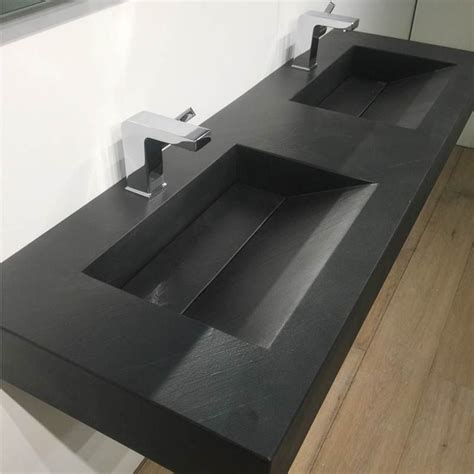 plan vasque salle de bain suspendu 141x46 cm pizarra