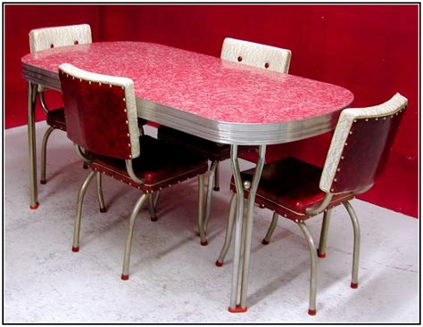 1950's Retro Kitchen Table Chairs Concrete Sink Kitchen Inset Sinks Stainless Steel How To Clear A Clogged Undermount Double Bowl At Home Depot Drain Size For Seal Soapstone Farmhouse