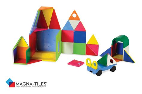 Magna Tiles Clear Vs Solid by Magna Tiles Solid Colors 48 Set Automobuild