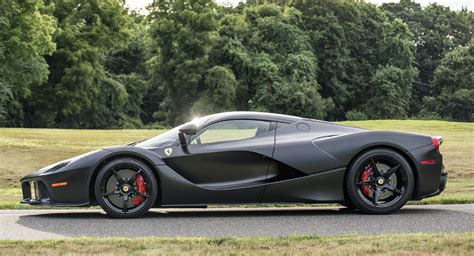Satin Black Laferrari Sells For Record .7 Million At Auction
