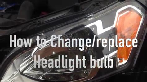 How To Change  Replace Headlight Bulb From Kia Soul 2010