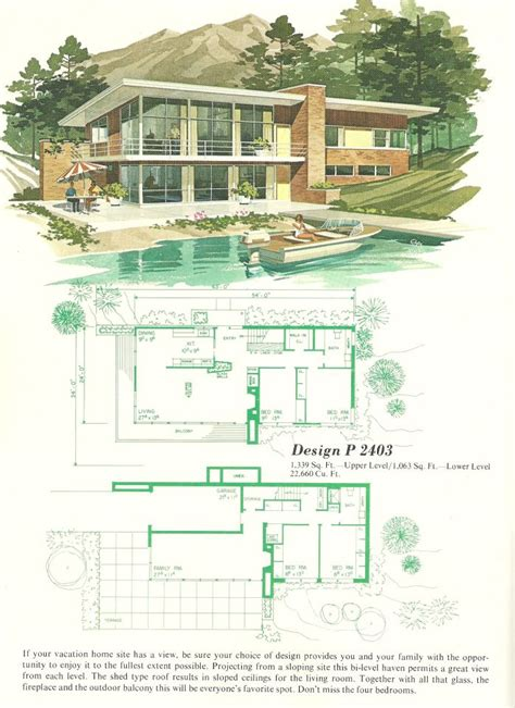 inspiring vintage house plans photo vintage house plans vacation home plans 1960s homes