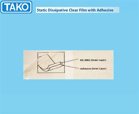static dissipative clear with adhesive