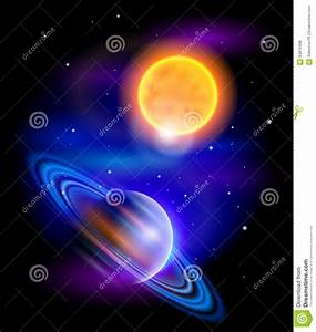 Sun And Saturn Stock Vector - Image: 54810498