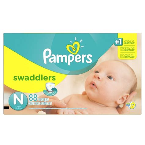 pers swaddlers diapers newborn 88 count ideal baby