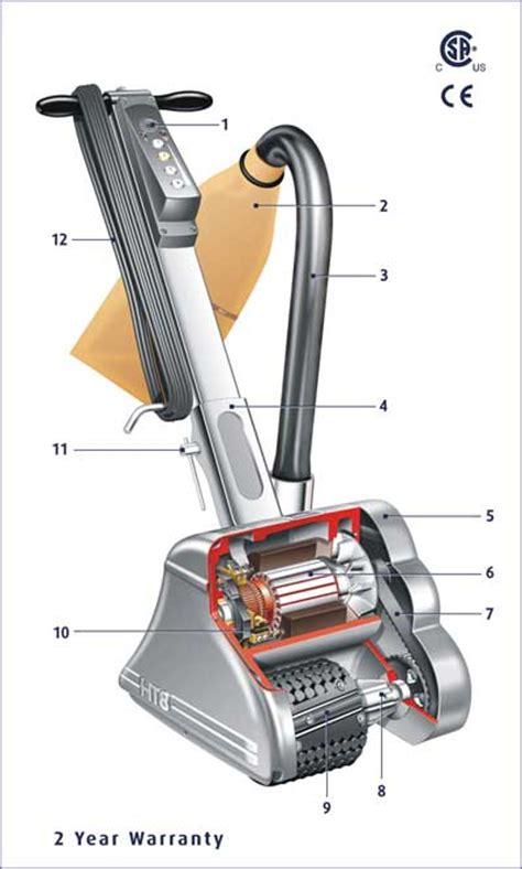 hiretech ht8 drum floor sander