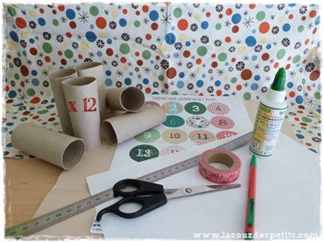 bricolage en rouleaux de papier toilette 5 un calendrier de l avent la cour des petits