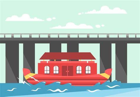 Kerala Boat House Vector by Kerala Boat House Vector Download Free Vector Art Stock
