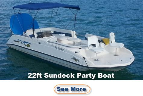 Party Boat Miami Price by Miami Party Boat Rental 20 25 Ft Party Boats