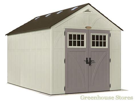 suncast 8x13 tremont two plastic garden shed