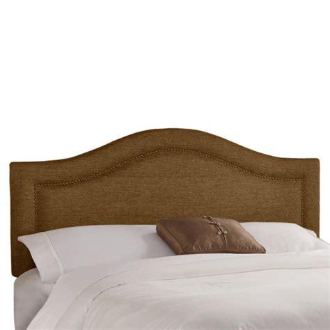 skyline furniture t 234 te de lit simple en tissu m 233 tallique de ton praline enjoliv 233 e de t 234 tes de