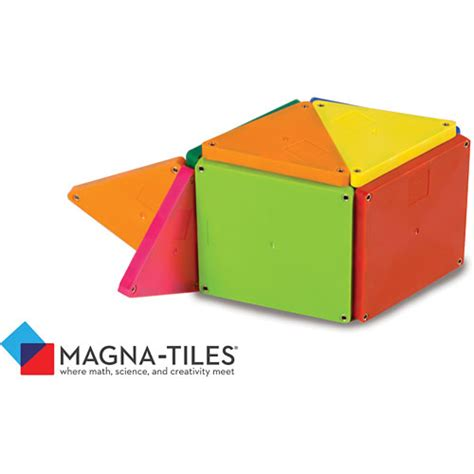 Magna Tiles Clear Vs Solid by Magna Tiles Solid Colors 100 Set Kool Child