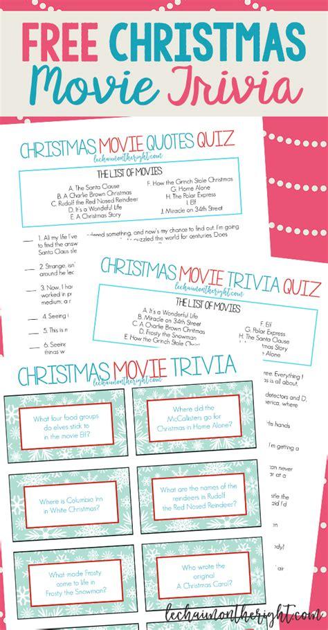 Free Printable Christmas Movie Trivia Christmas Game Night