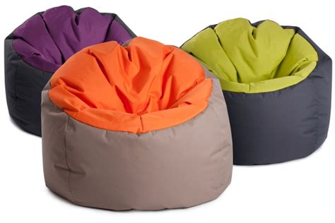 gros pouf rond original quot bowly quot bicouleur gris aubergine jumbo bag
