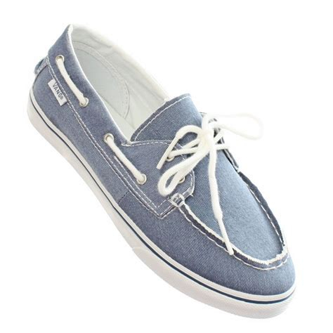 Vans Boat Shoes Price by Womens Vans Zapato Twill Blue Boat Deck Canvas Ladies