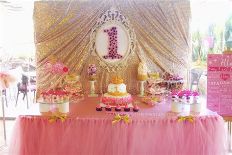 A Princess Themed First Birthday Party Time2partaycom