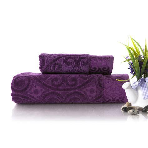 purple bath towel sets images