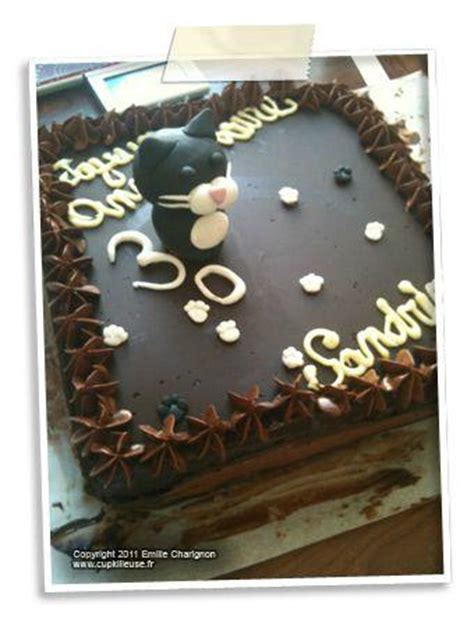 decoration gateau en chocolat