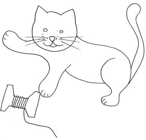 coloriage d chat assis