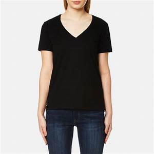 Polo Ralph Lauren Women's V Neck T-Shirt - Black - Free UK ...
