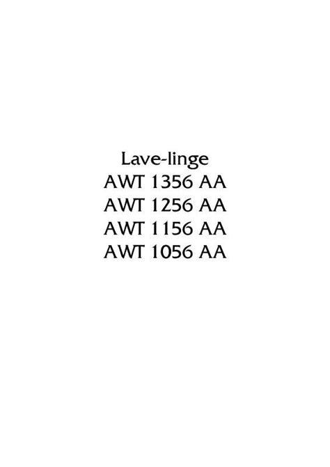 notice et pi 232 ces arthur martin electrolux awt 1256 aa awt1256aa lave linge moteur courroie