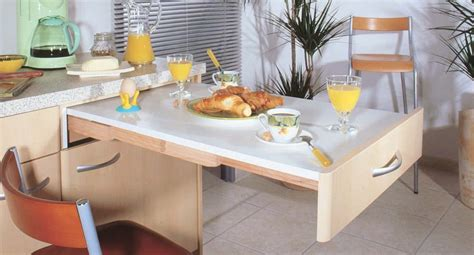 table escamotable cuisine 233 quip 233 e design
