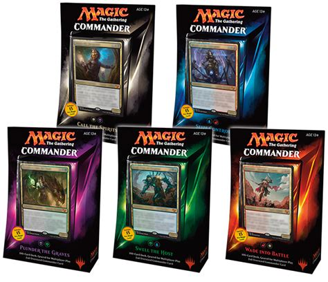commander deck set of 5 x 100 card 2015 mtg magic the
