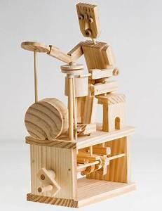 Timberkits Drummer Model Kit Mechanical Wooden Self ...