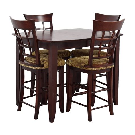 48% Off  High Top Dining Table With Four Chairs Tables
