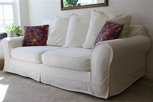Sofas Couches : white slipcovered sofa for nice living room homesfeed ~ Markanthonyermac.com Haus und Dekorationen