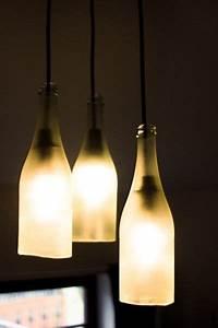 Hängelampe Selber Machen : lampe aus sektflaschen anleitung zum nachbauen lampen selber machen pinterest lampen ~ Markanthonyermac.com Haus und Dekorationen