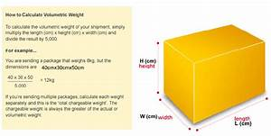 Volumetric Weight Calculation - International Courier Services
