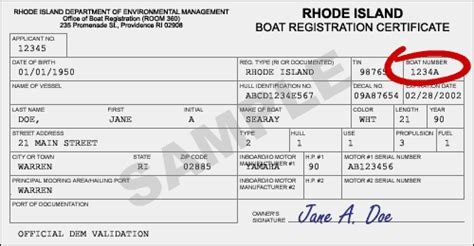 Ct Boat Registration Numbers Rules by Ri Gov Dem Boat Address Change