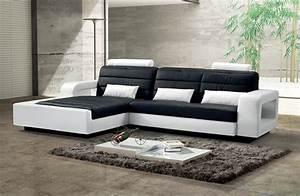 Schwarz Weiß Kontrast : sam ecksofa schwarz wei sofa new york 188 x 310 cm links ~ Markanthonyermac.com Haus und Dekorationen