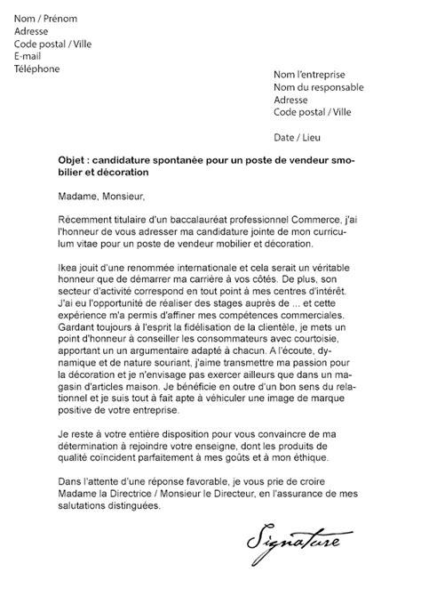 lettre de motivation ikea vendeur mod 232 le de lettre