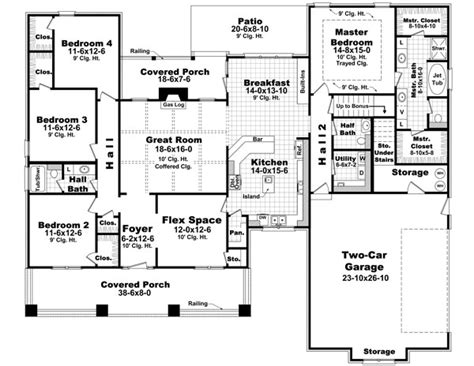 images one level country house plans house plan 59198 at familyhomeplans