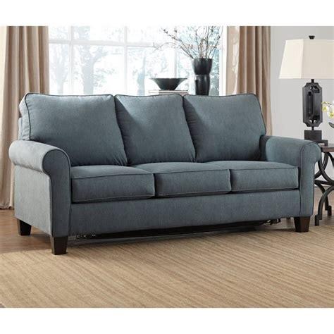 zeth fabric size sleeper sofa in denim 2710136