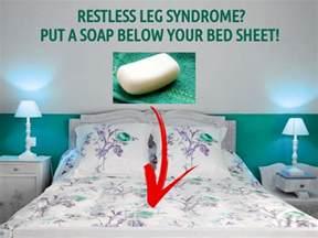 remedy for restless leg put a soap below