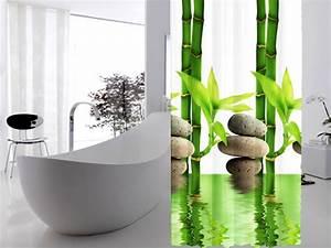 Duschvorhang Für Fenster : textil duschvorhang 240 x200cm bambus mit stein gr n wei inkl ringe ebay ~ Markanthonyermac.com Haus und Dekorationen