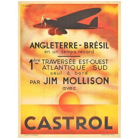 original vintage deco poster by jim mollison to brazil castrol at 1stdibs