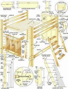 Bauplan Für Ausziehtisch : bauplan f r ein hochbett diy pinterest hochbetten kinderzimmer und furniture ~ Markanthonyermac.com Haus und Dekorationen